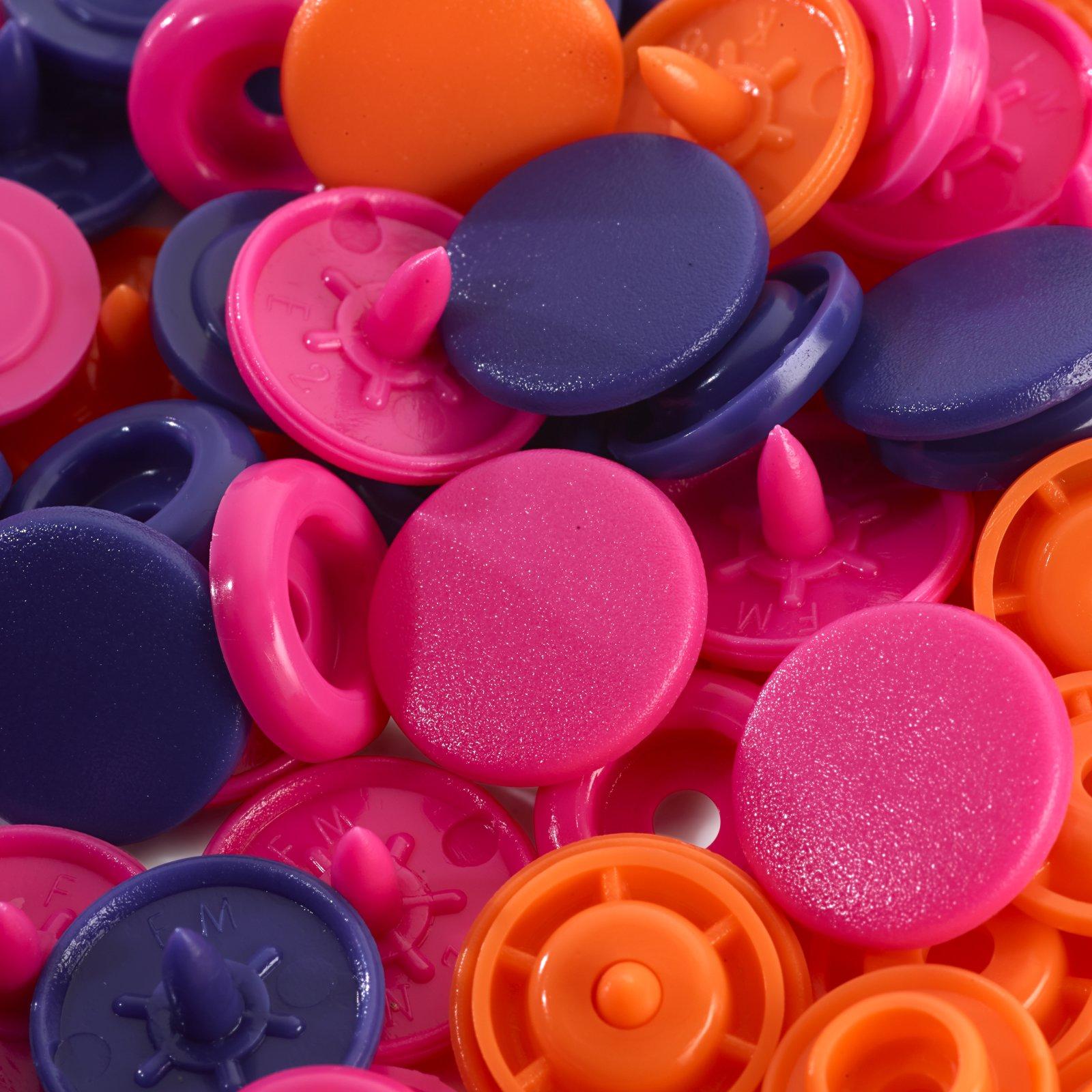 """Prym Nähfrei Druckknöpfe """"Color Snaps"""" pink 12,4mm rund"""