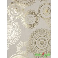 Baumwolle Mix Stoff gold metallic Mandalas